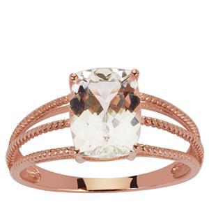 2.24ct Danburite 9K Rose Gold Ring