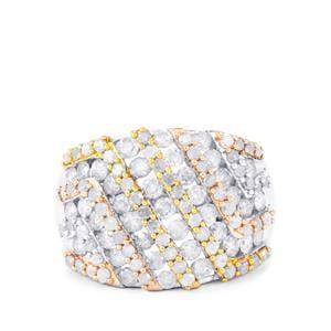 2ct Diamond Three Tone Midas Ring