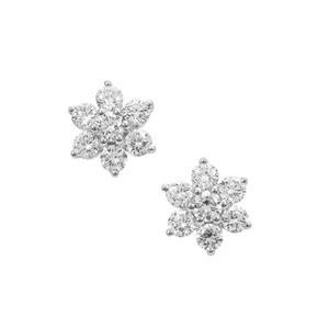 1/2ct GH Diamond Platinum 950 Earrings