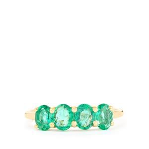Zambian Emerald Ring in 10k Gold 1.22cts