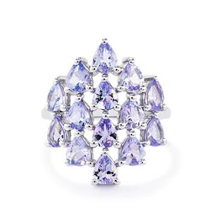 4ct Tanzanite Sterling Silver Ring