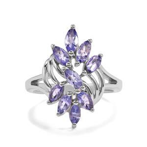 1.22ct Tanzanite Sterling Silver Ring