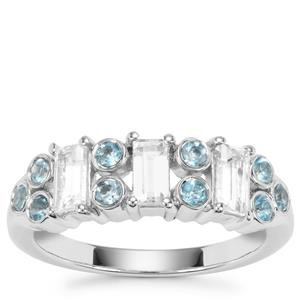 White Topaz Ring with Marambaia London Blue Topaz in Sterling Silver 1.31cts