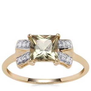 Csarite® Ring with Diamond in 10K Gold 1.21cts