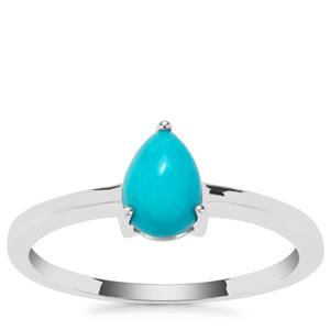 Sleeping Beauty Turquoise Ring in Sterling Silver 0.62ct