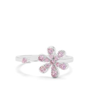 0.43ct Sakaraha Pink Sapphire Sterling Silver Ring