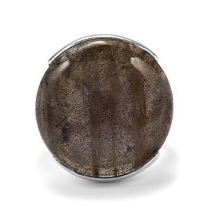 23ct Pink Flash Labradorite Sterling Silver Aryonna Ring