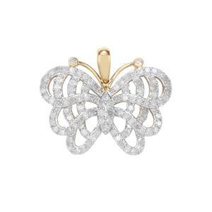 1.45ct Diamond 9K Gold Tomas Rae Pendant