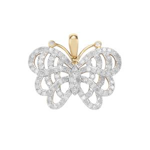 Diamond Pendant in 10k Gold 1.45ct