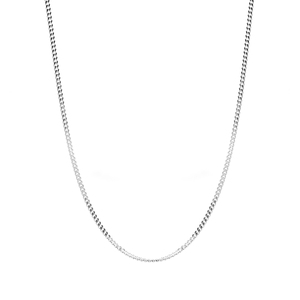 """22"""" Sterling Silver Classico Slider Curb Chain 2.40g"""