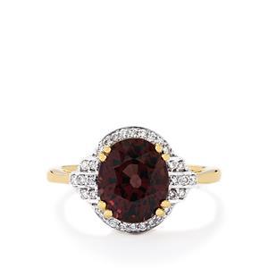 Colour Change Garnet & Diamond 18K Gold Lorique Ring MTGW 4.12cts