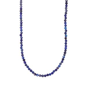 Lapis Lazuli Graduated Bead Necklace in Sterling Silver 32.52cts