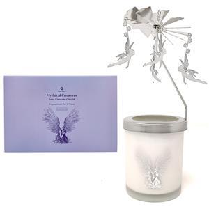 Gem Auras Fairy Carousel Candle with a Pear & Freesia Fragrance & White Jade Gemstones ATGW 30cts
