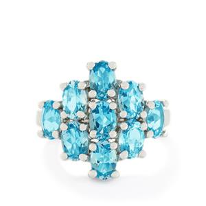 4.72ct Swiss Blue Topaz Sterling Silver Ring
