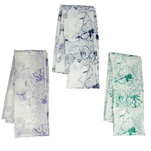 Destello Floral Silhouette Scarf (Choice of 3 Colors)