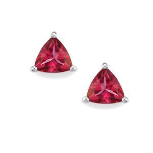 1.78ct Mystic Pink Topaz Sterling Silver Earrings