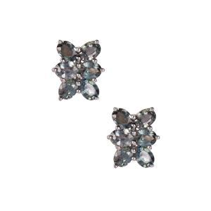 Tunduru Colour Change Sapphire Earrings in Sterling Silver 3.12cts