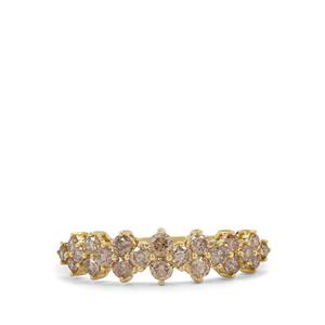 Cape Champagne Diamond Ring in 9K Gold 0.79ct