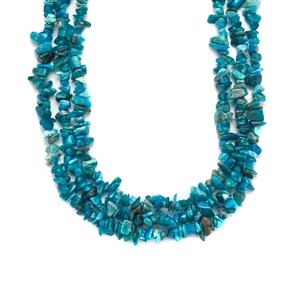 603cts Neon Apatite Sterling Silver Necklace
