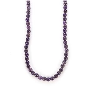 107.50cts Zambian Amethyst Sterling Silver Slider Necklace