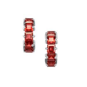 4.83ct Nampula Garnet Sterling Silver Earrings