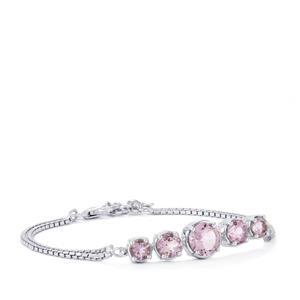 Rose De France Amethyst Bracelet in Sterling Silver 4.45cts