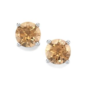 3.26ct Bolivian Natural Champagne Quartz Sterling Silver Earrings