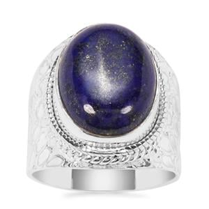 Sar-i-Sang Lapis Lazuli Ring in Sterling Silver 14cts