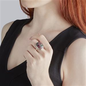 Eudialyte Ring in Sterling Silver 15cts