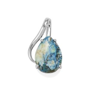20ct Azurite Diopside Sterling Silver Aryonna Pendant
