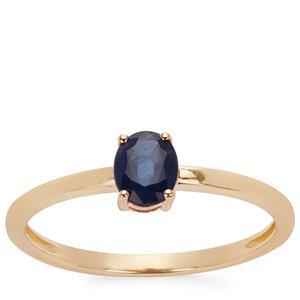 Kanchanaburi Sapphire Ring in 9K Gold 0.45ct
