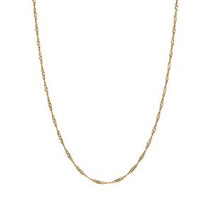 "20"" 9K Gold Classico Twist Curb Chain 0.70g"