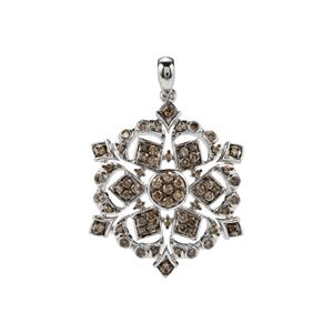 1.05ct Champagne Diamond Sterling Silver Pendant