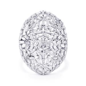 1.55ct Diamond Sterling Silver Ring
