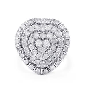2.05ct Diamond Sterling Silver Ring