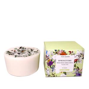 Springtime Candle Wax Refill - Green Aventurine, Moss Agate, Clear Quartz ATGW 30cts