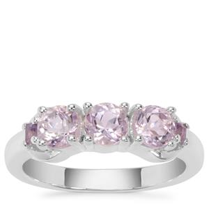 Rose du Maroc Amethyst Ring with Amethyst in Sterling Silver 1.10cts