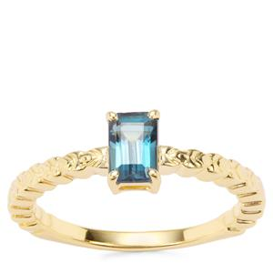 Marambaia London Blue Topaz Rachel Bromley Ring in Gold Plated Sterling Silver 0.76ct