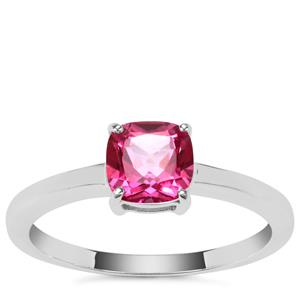 Mystic Pink Topaz Ring in Sterling Silver 1.21cts