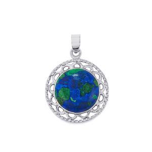 14.11ct Azure Malachite Sterling Silver Pendant