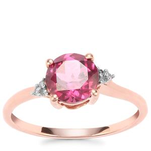 Mahenge Garnet Ring with Diamond in 9K Rose Gold 1.51cts