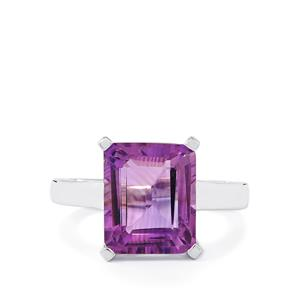 5.80ct Zambian Amethyst Sterling Silver Ring