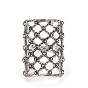 0.48ct Natural Marcasite Sterling Silver Jewels of Valais Ring