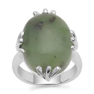 Nephrite Jade Ring in Sterling Silver 17.80cts