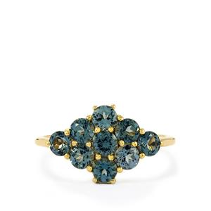 Mahenge Blue Spinel Ring in 10K Gold 1.70cts