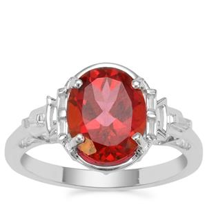 Cruzeiro Topaz Ring with White Zircon in Sterling Silver 3.19cts