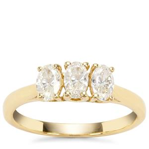 Natural Fancy Diamond Ring in 18K Gold 1ct
