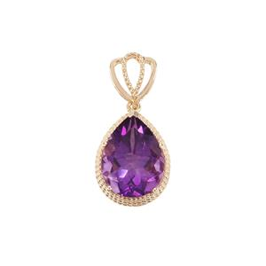 Moroccan Amethyst Pendant in 9K Gold 6.90cts