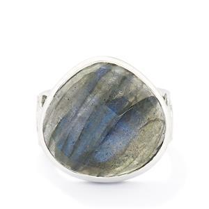 12.92ct Spectrolite Sterling Silver Ring