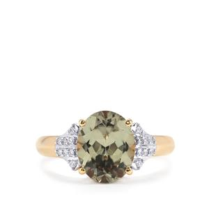 Csarite® & Diamond 18K Gold Ring MTGW 2.81cts